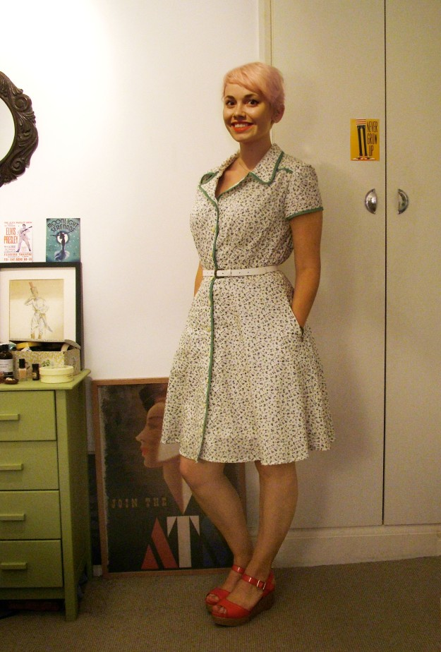 1940sDressPink