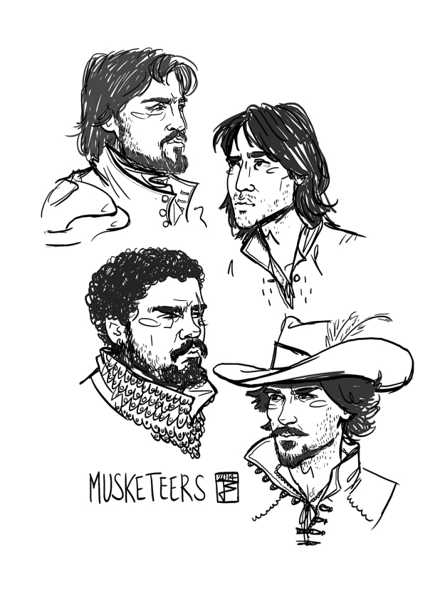 JW_Musketeers Sketches_W